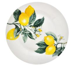 Royal Norfolk Greenbrier International Set 4 Yellow Lemons T