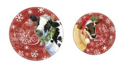 Punch Studio H8 Christmas Kitchen Dining Party Paper Plates