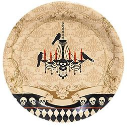 BirthdayExpress Halloween Party Skull Mansion Dinner Plates