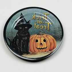halloween trick or treat black cat pumpkin