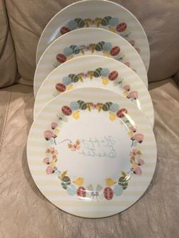 THE ENGLISH TABLE HAPPY EASTER EGGS CHICKS 4 DINNER PLATES D