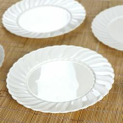 """Hard Plastic 10"""" ROUND DINNER PLATES Party Wedding Catering"""