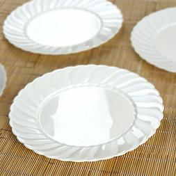 hard plastic 10 round dinner plates party