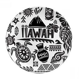 Hawaiian Islands Celebrate Silhouette America Decorative Por