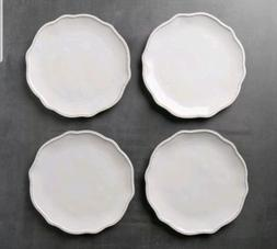 Hearth And Hand Magnolia Cream Stoneware Scallop Beaded Dinn