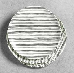 hearth hand magnolia railroad gray stripes melamine