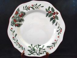 heritage col winter forest 4 dinner plates