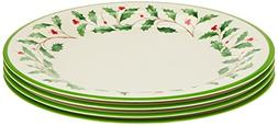 Lenox Holiday Melamine Dinner Plates , Ivory
