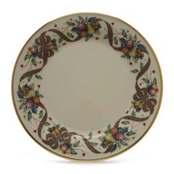 Lenox Holiday Tartan Gold Banded Ivory China Dinner Plate