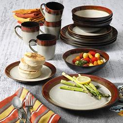 Gibson Home Kitchen Tableware Plate Cup Terra Bella 16 Piece