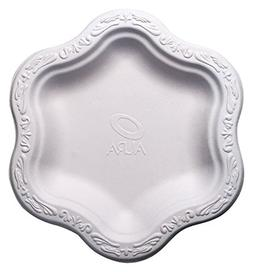 """7"""" inch Disposable Floral Small Premium White Plates - Acan"""