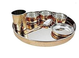 Indian Dinnerware Stainless Steel Copper Traditional Dinner