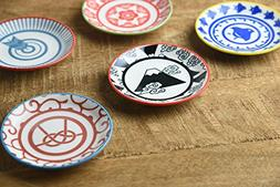 Mino Ware Japanesque Miniature Plates Set of 5 Made in Japan