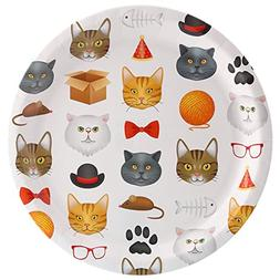 BirthdayExpress Kitty Cats Meow Party Dinner Plate