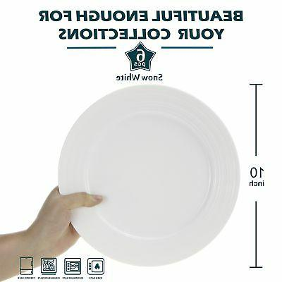 Lifver Porcelain Plates/Serving with Embossed Ring