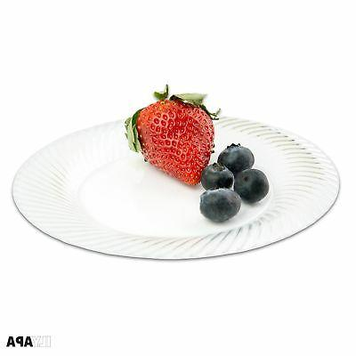 100 Clear Plates Party or Wedding - Inch
