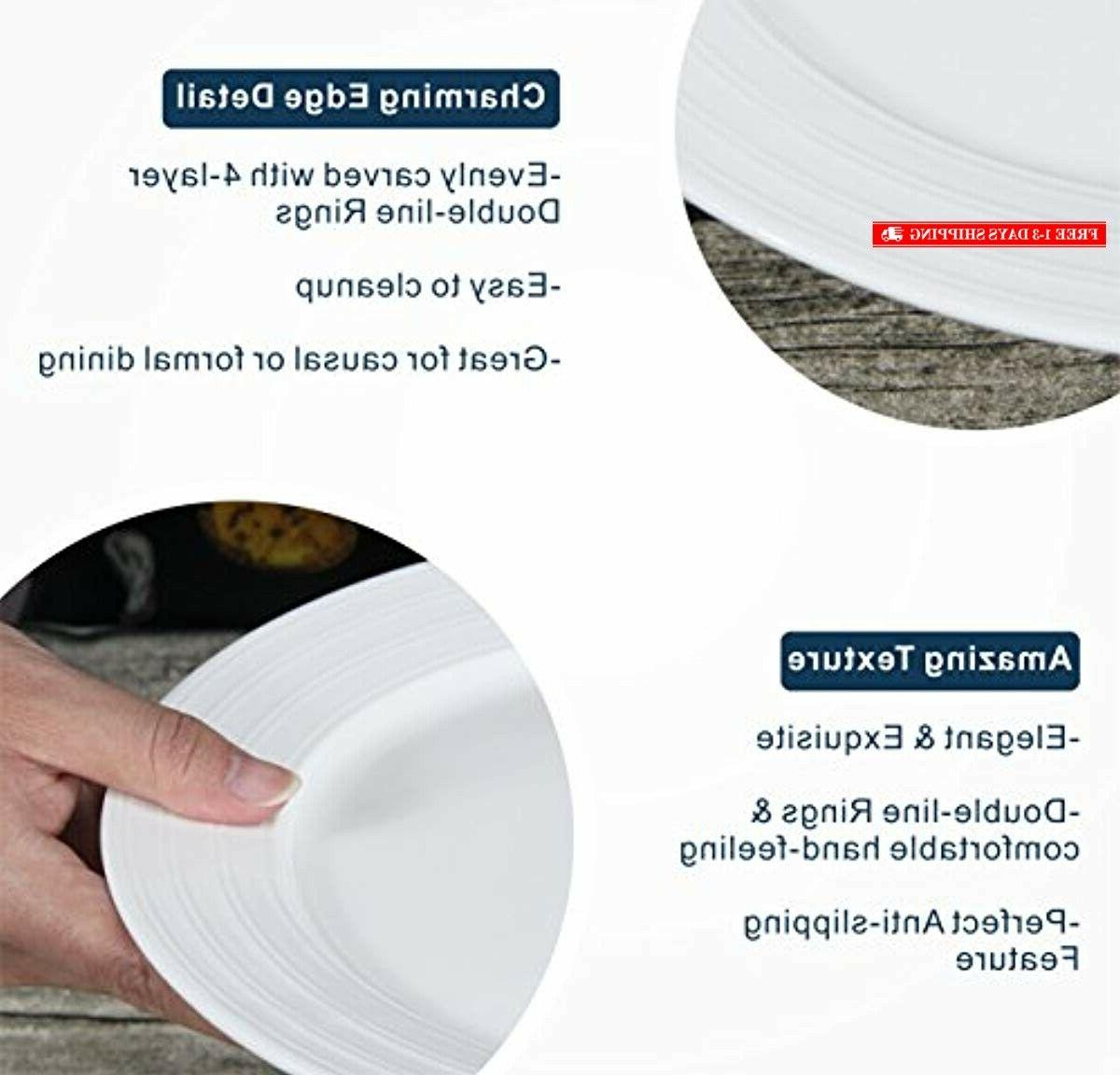 Lifver FBA_COMINHKPR123807 Dinner Plates/Serving with E