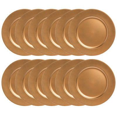 12pk Charger Plate Room Table Plates