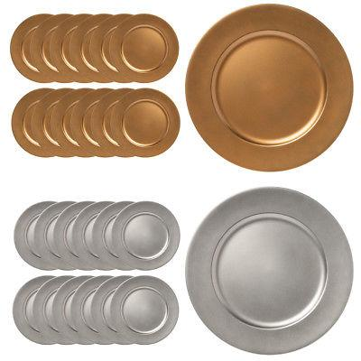 12pk lincoln 13 round charger plate set