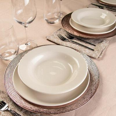 12pk Lincoln Charger Plates Serving