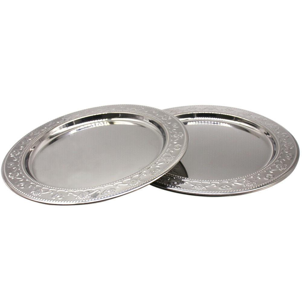 13-Inch Stainless Steel Plate Chargers Round