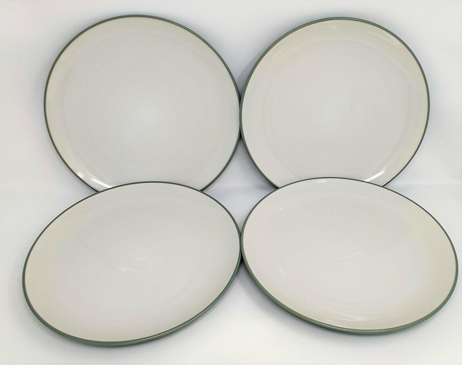 4 colorwave green dinner plates stoneware coupe