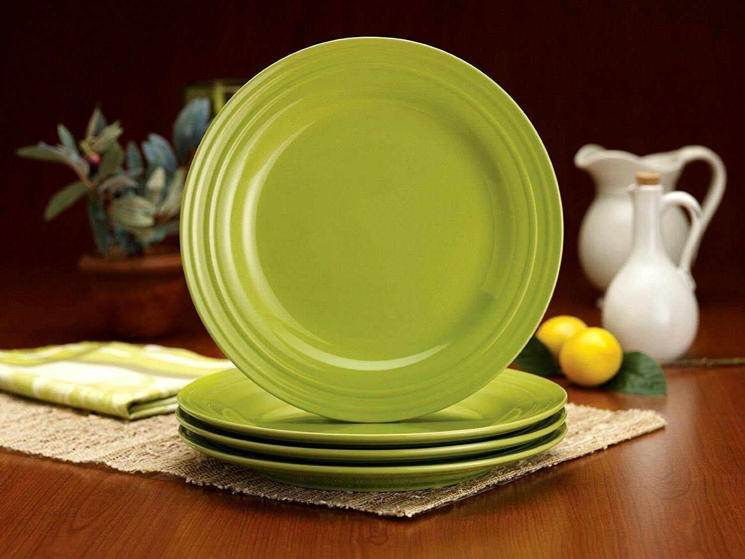 4 NEW RACHAEL RAY - LIME PLATES