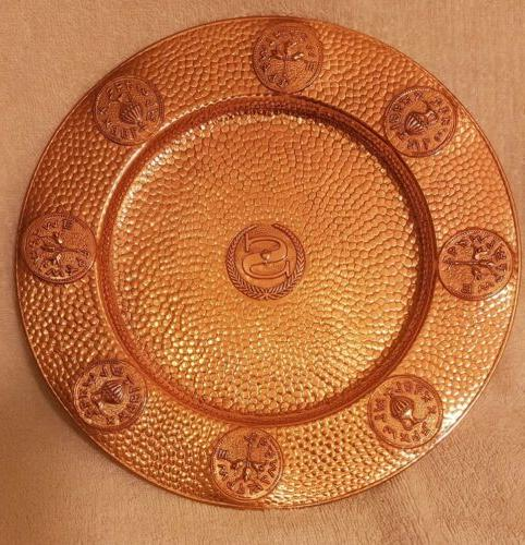 "4 REAL GREEK STYLE DINNER PLATES 4-10""ROUND ABSOLUTELY"