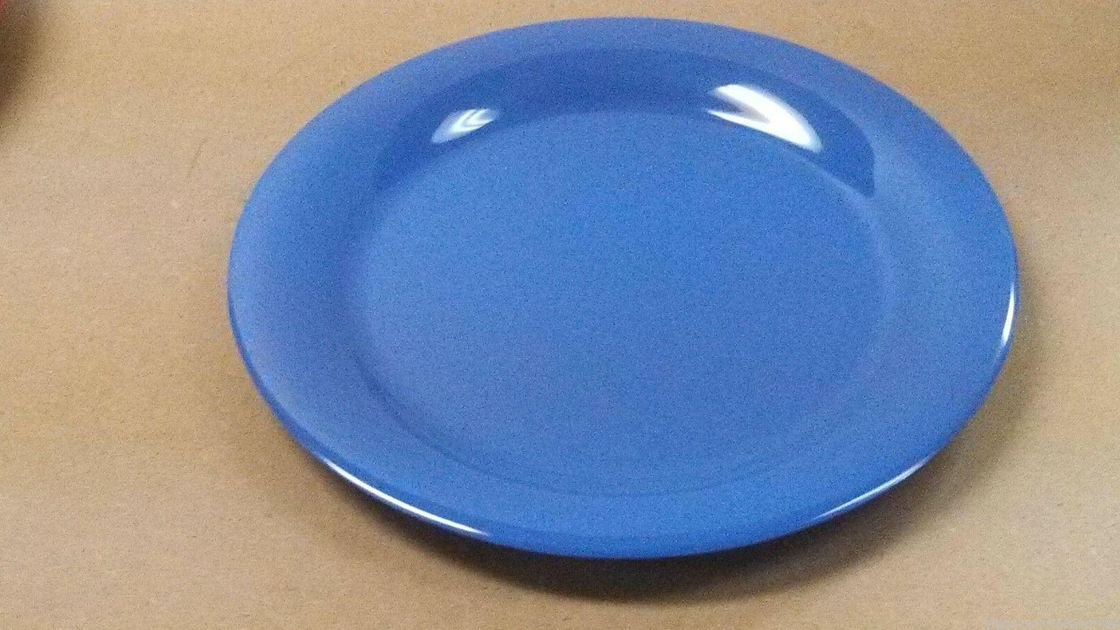 "DINNER PLATES 10.5"" PLATE HEAVY MELAMINE 5 Colors Yellow Red Green"