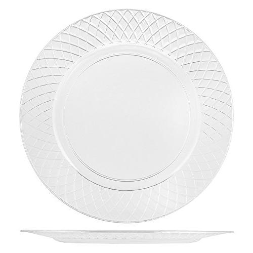 72 CLEAR PLATES | 7.5 Disposable Plates Appetizer Plates Dessert | Round Party Plates Heavy Duty | Premium