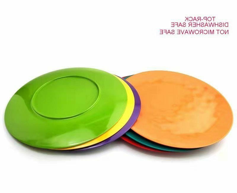 6 100% Melamine Dinner and Color