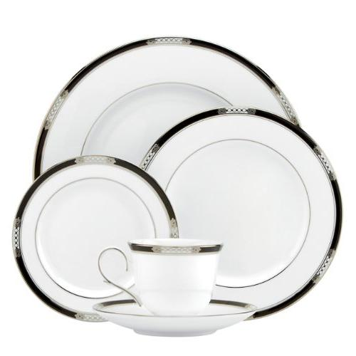 Hancock 5 Piece Place Setting, Platinum White