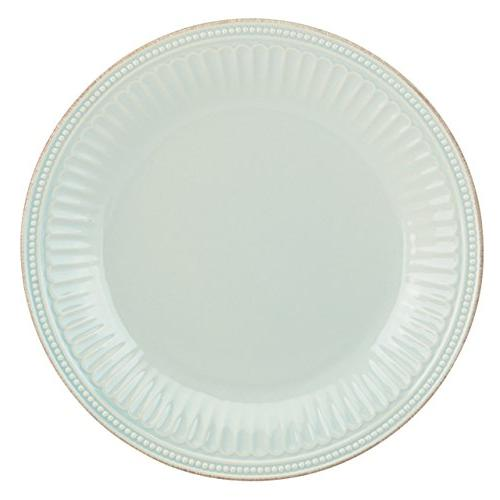 Lenox French Perle Groove Dinner Plate, Ice Blue