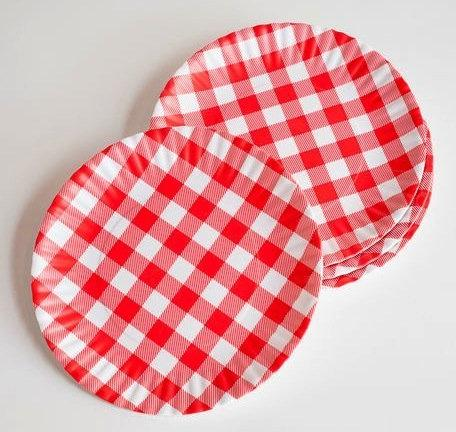 """""""What Is It?"""" Reusable Red & White Gingham Checkered Picnic"""