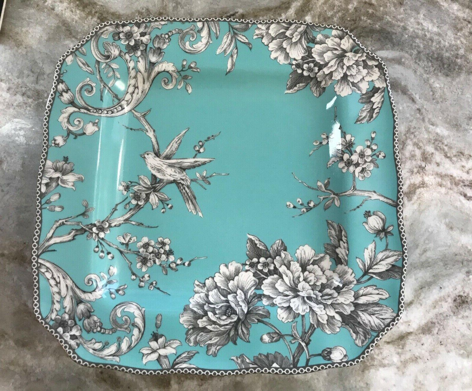 adelaide turquoise square dinner plates set of