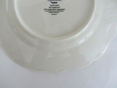 222 Fifth ANDOVER Plates Christmas Winter Cone NEW