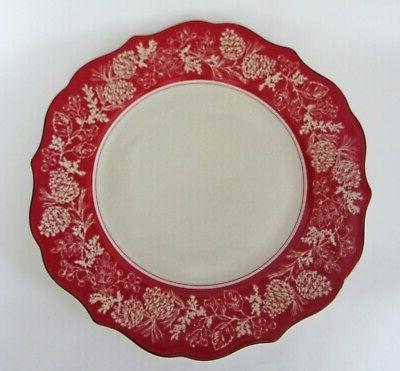 andover dinner plates christmas winter pine cone