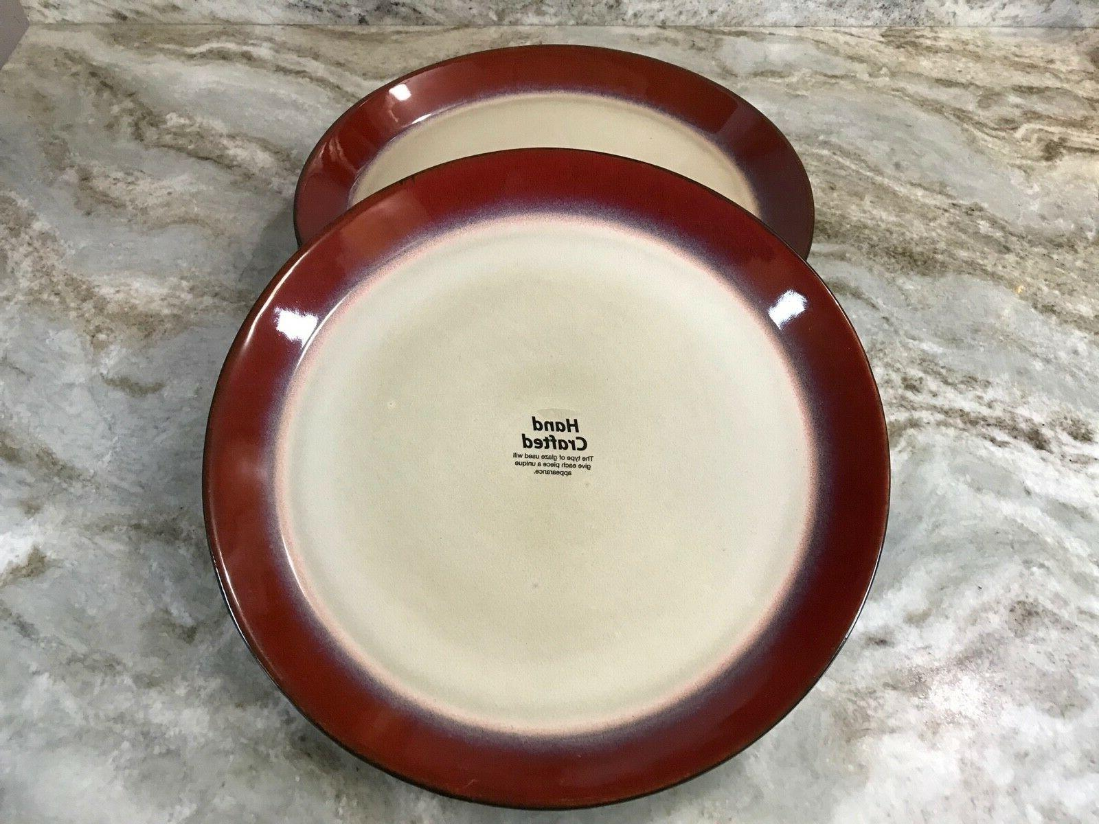 aria red dinner plates set of 4