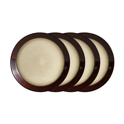 aria red set of 4 dinner plates