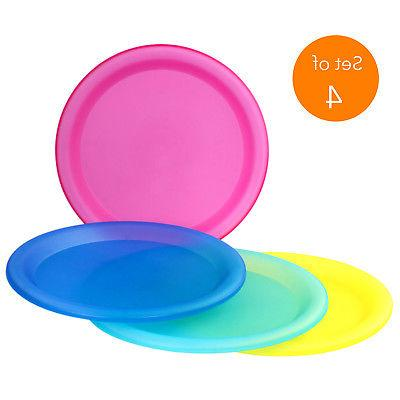 4 Reusable Dinner Plates Party