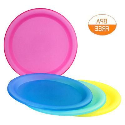 4 Pc Colorful Reusable Dinner Party BPA - Fee Plastic