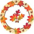 Autumn Days Fall Leaves Thanksgiving Holiday Theme Party 9""