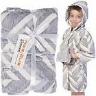 Bathrobe for Kids Hooded Children's Robe Gift Set With Washc