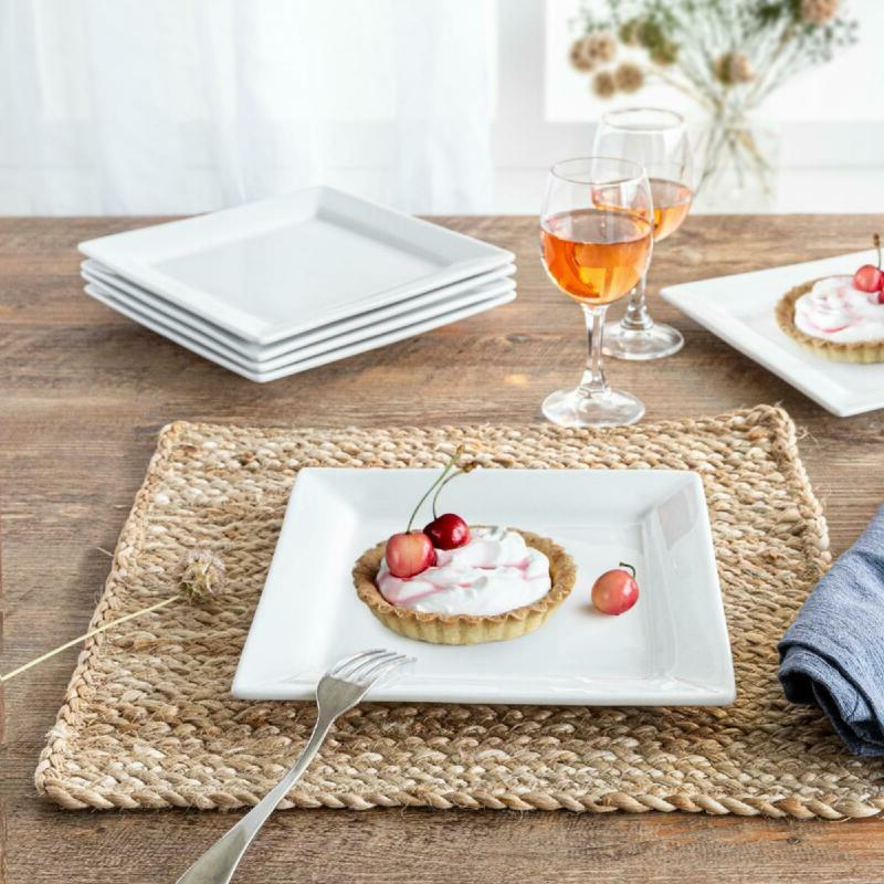 better homes and gardens square salad plates