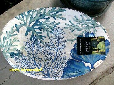 NICOLE Green Beach Plates MELAMINE Pool of