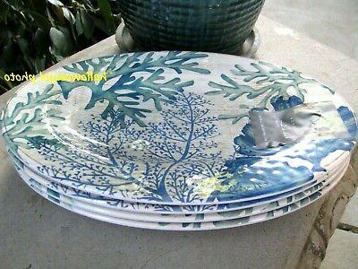 NICOLE Coral Green Beach Dinner MELAMINE Pool