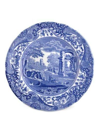 "Spode Blue Italian Dinner Plate Set of 4, 10.5""  England  NE"