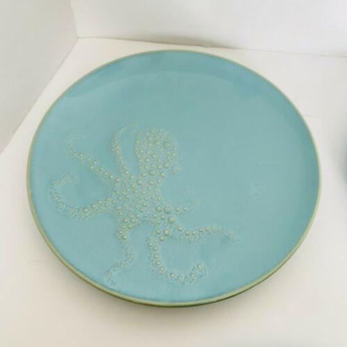 """Pottery Barn Blue 9"""" Plates Ships USPS PRIORITY MAIL"""