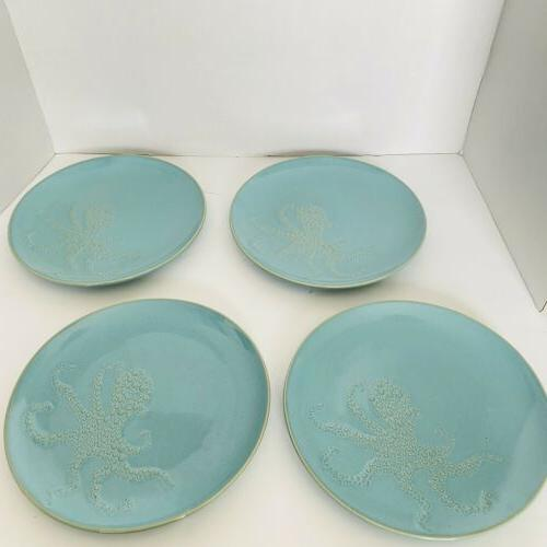 blue octopus 9 plates ships usps priority