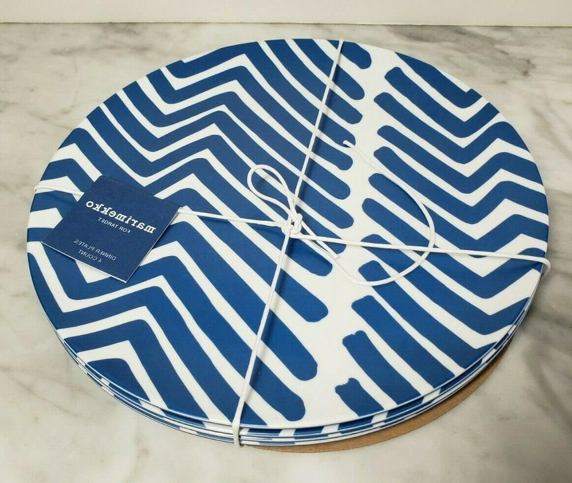 blue white traktori dinner plates set of
